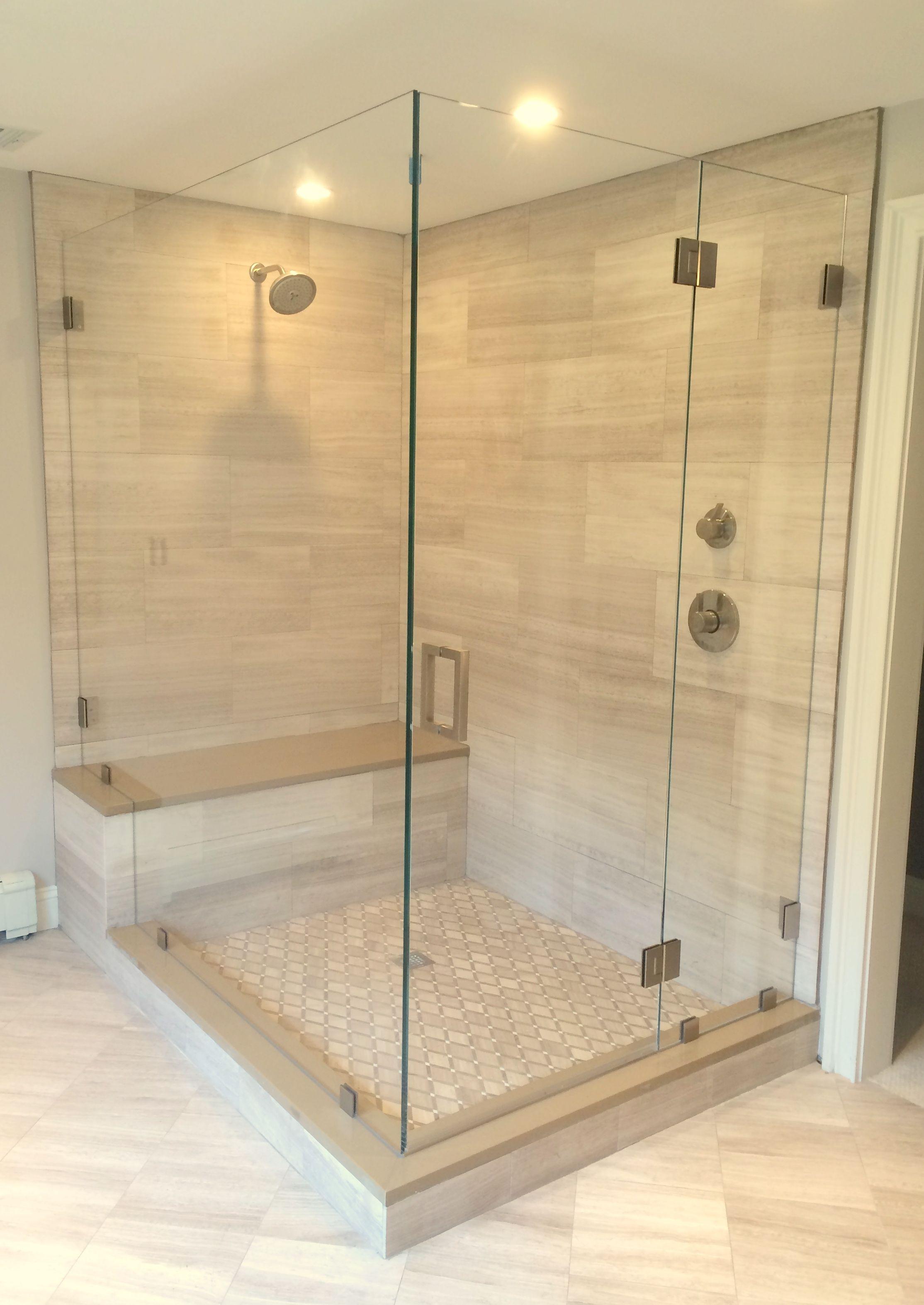 Spacious And Elegant This Frameless Shower Door Has Plenty Of