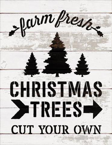 Farm Fresh Christmas Trees Word Art Stencil Select Size Stcl1539 By Studior12 Fresh Christmas Trees Christmas Stencils Stencils For Wood Signs