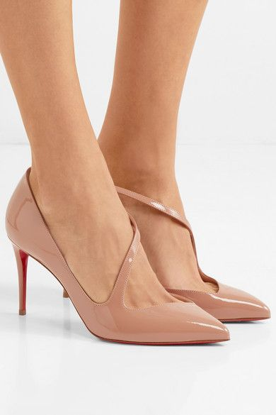ca759940cc46 Christian Louboutin - Jumping 85 Patent-leather Pumps - Neutral ...
