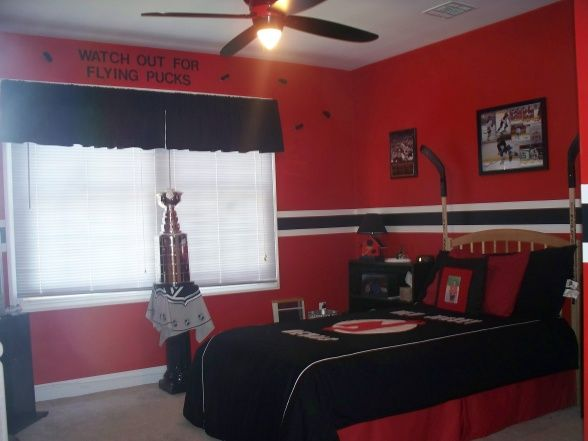 Hockey Bedroom Ideas For Boys One Week I Created A Nj