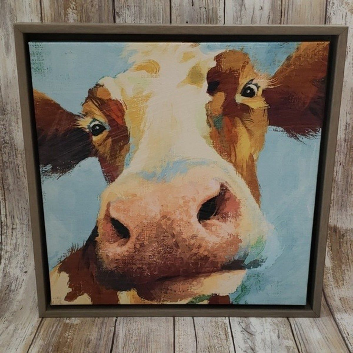 Cow Picture Wall Art In 2020 Cow Painting Cow Canvas Cow Pictures On Canvas