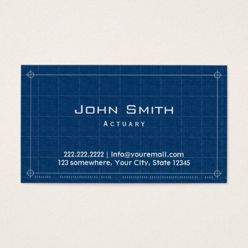 Blueprint Actuary Business Card - copy what is blueprint paper called