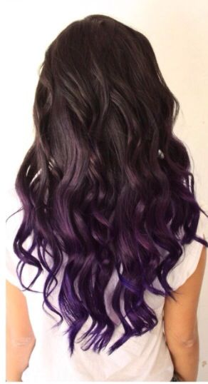 Purple And Dark Brunette Ombré Hair Hair In 2019 Dyed Hair