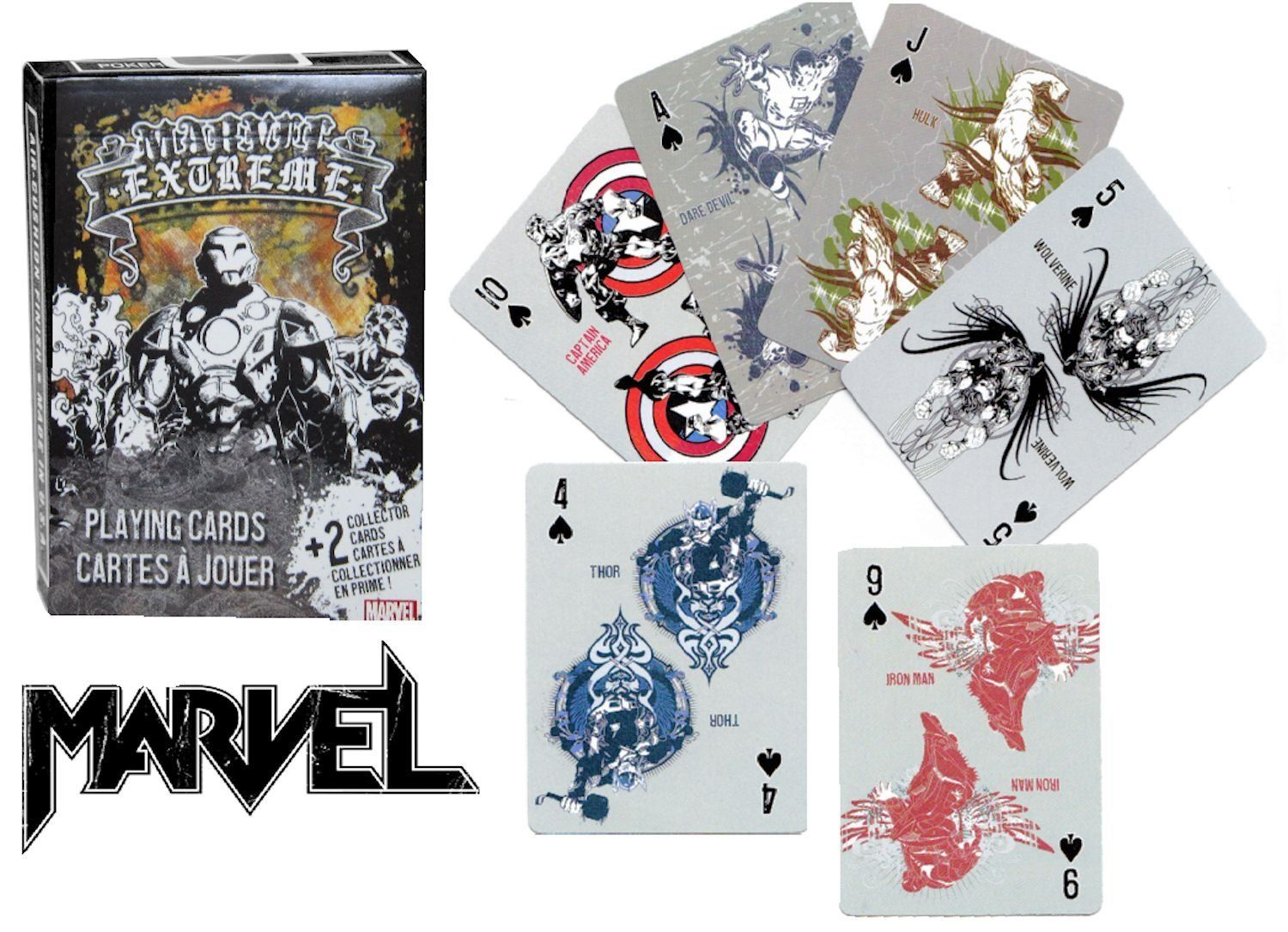 Amazon.com: Marvel Extreme Playing Cards ~ Featuring ~ Thor, Iron Man, Captain America, Incredible Hulk, Silver Surfer and More!: Toys & Games
