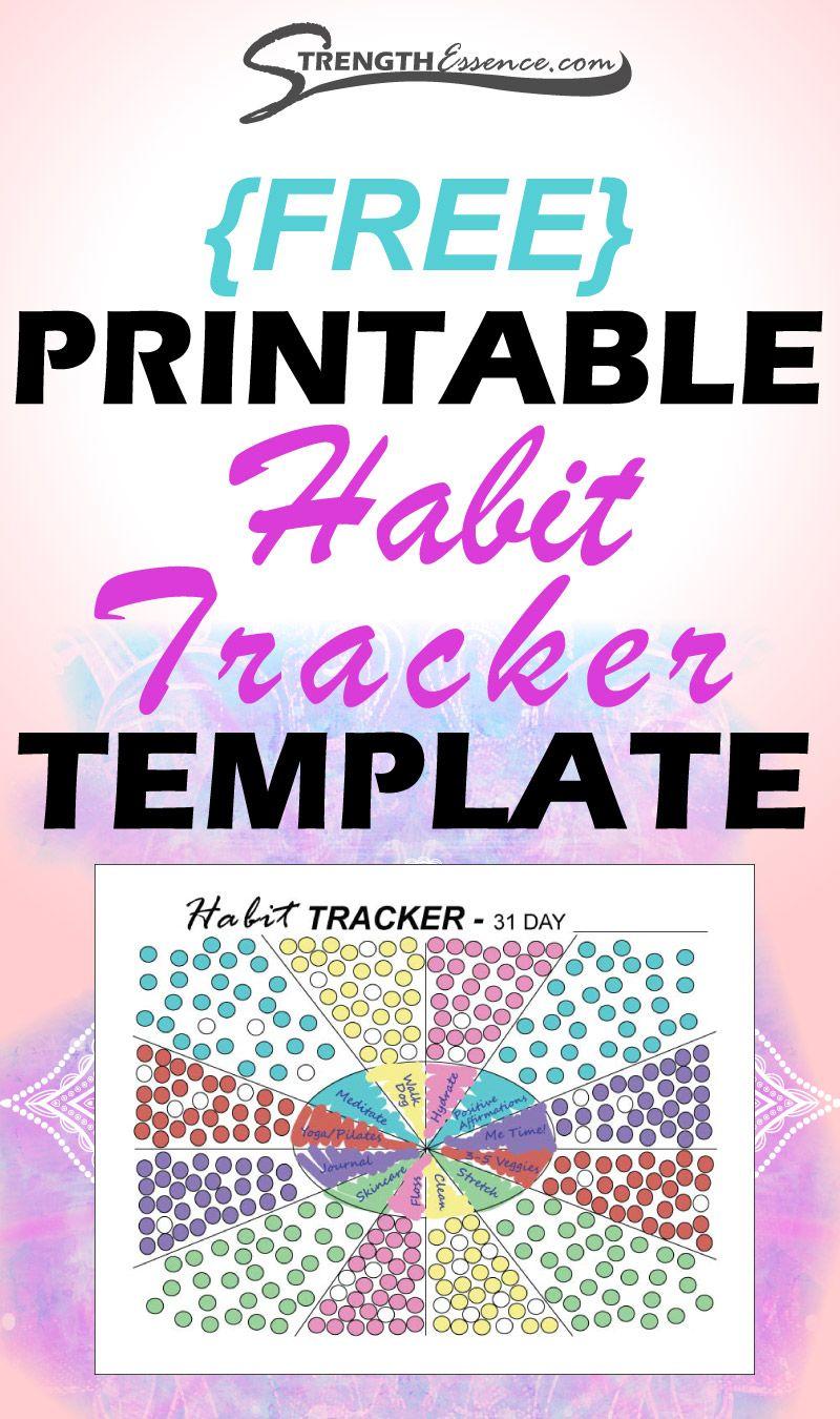 Free Printable 2020 Habit Tracker Pdf Instant Download