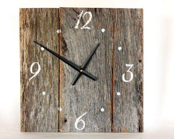 Barnwood Clock Barnwood Clock Country Clock Weathered Wood Clock Wood Clocks Barn Wood Decor Barn Wood Crafts