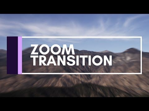 After Effects Tutorial | Zoom Transition - YouTube | After Effects