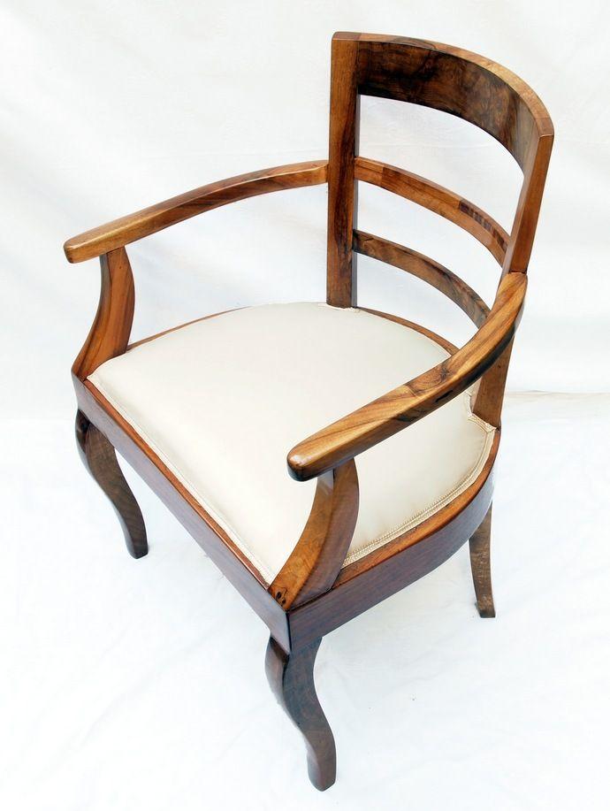 Ohrenbacken Sofa armlehnstuhl nussbaum biedermeier antiquitäten haus heymann