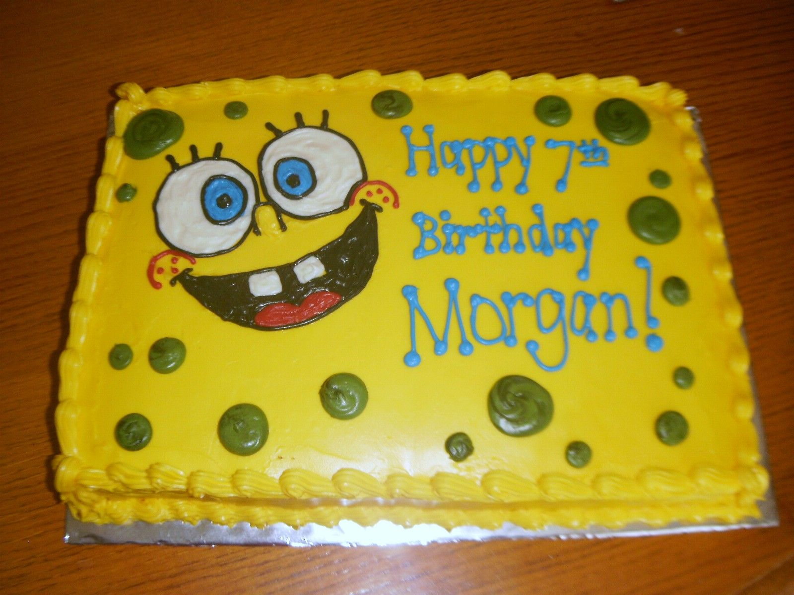 Spongebob Cake Plain And Simple With Images Spongebob