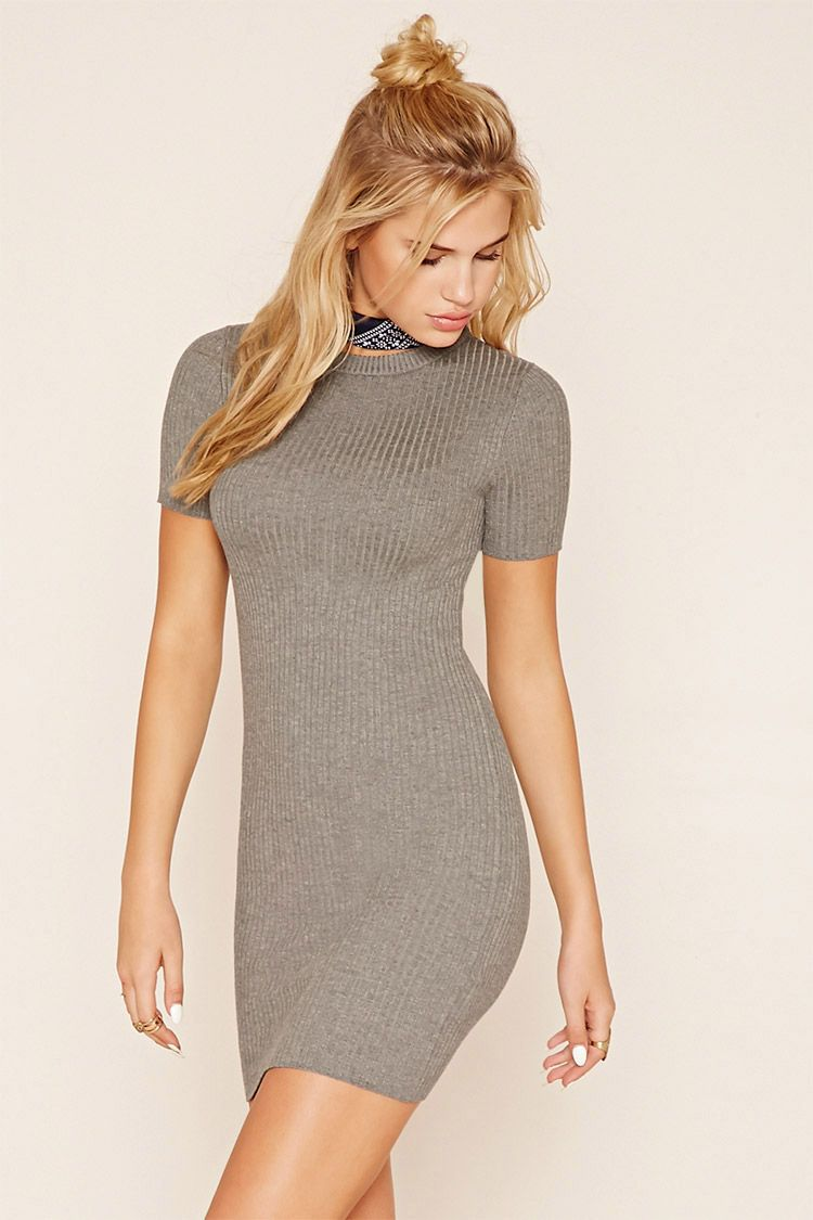 Ribbed Knit Dress Ribbed Knit Dress Forever 21 Outfits Dresses [ 1125 x 750 Pixel ]