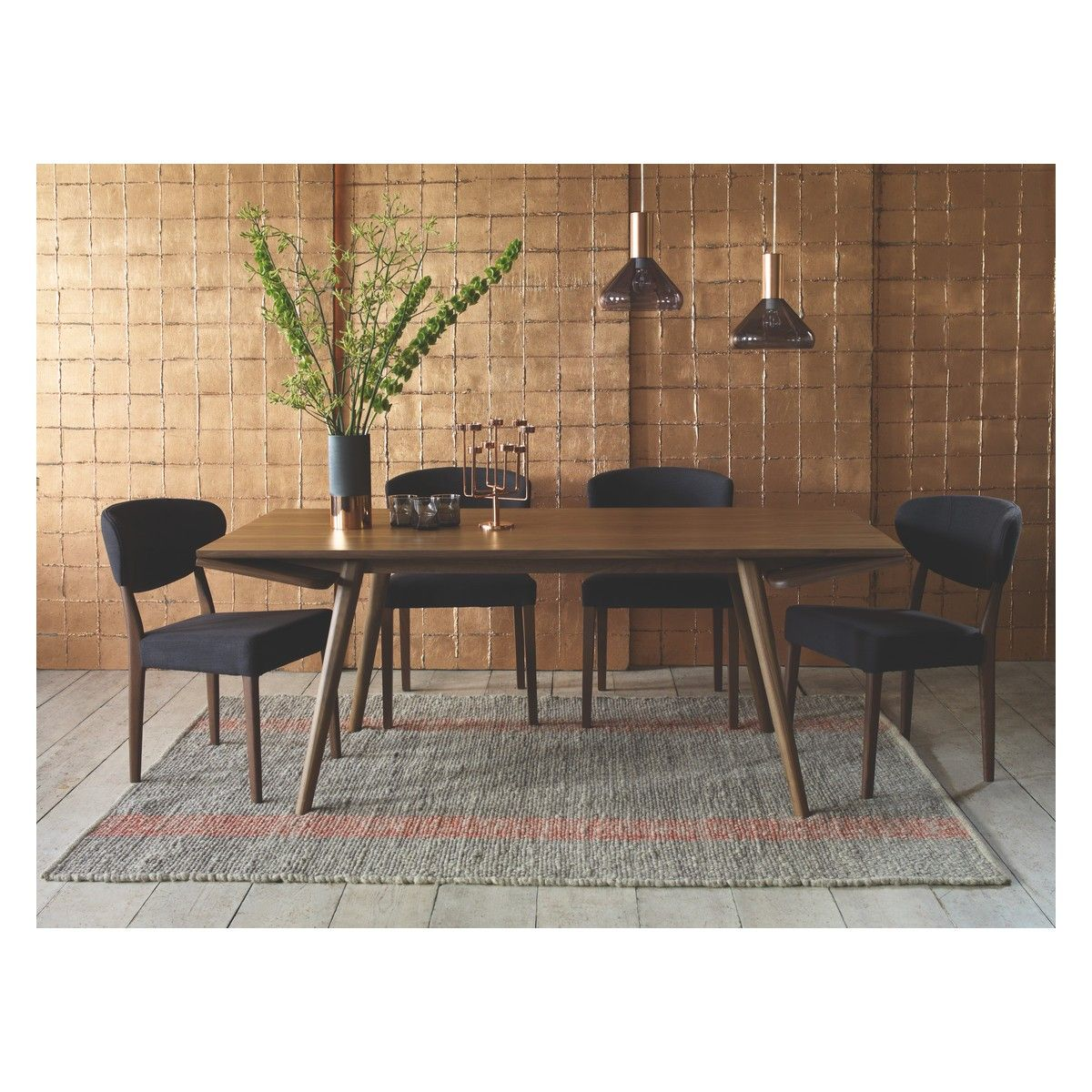 COPPER Black Top Copper Vase Grey Upholstered Dining ChairsCopper CeilingKitchen LightingBlack