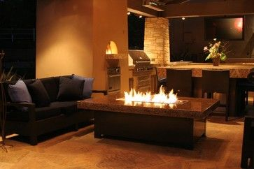 Indoor Ventless Fire Pit Table Large Balboa Fire Pit Table