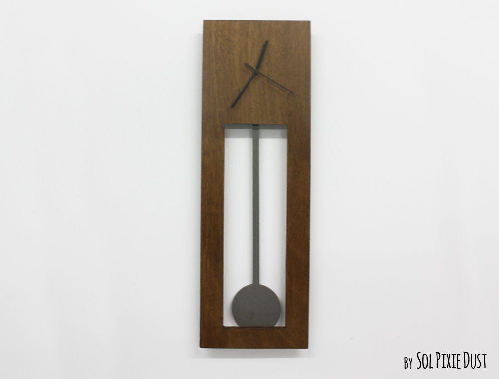 Bluntly Wood Wall Clock Modern Grandfather Pendulum Wall Clocks Contemporary Wall Clock Unique Wall Clocks Wall Clock Modern Wood Wall Clock Wooden Walls