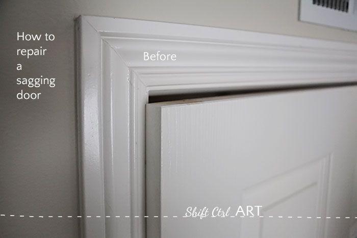 How to fix a sagging door see how easy it is doors tutorials and house repair for How to fix a sagging exterior door
