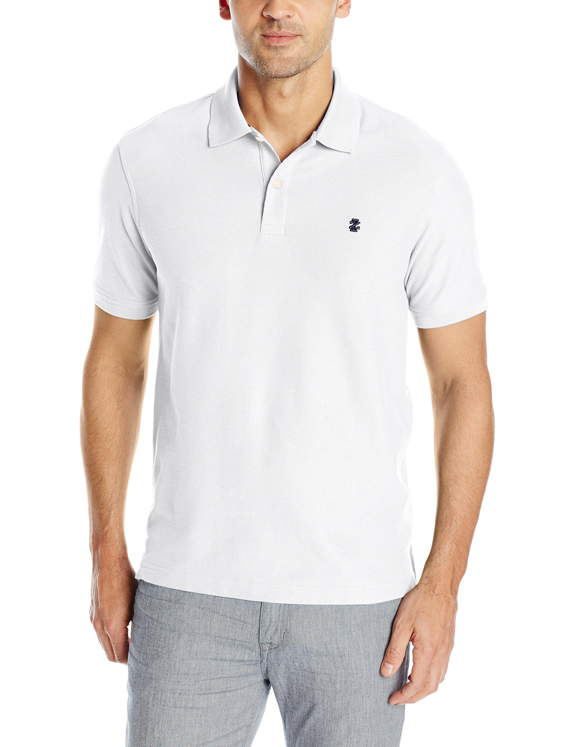 Izod Mens Advantage Performance Solid Polo White Medium Apparel