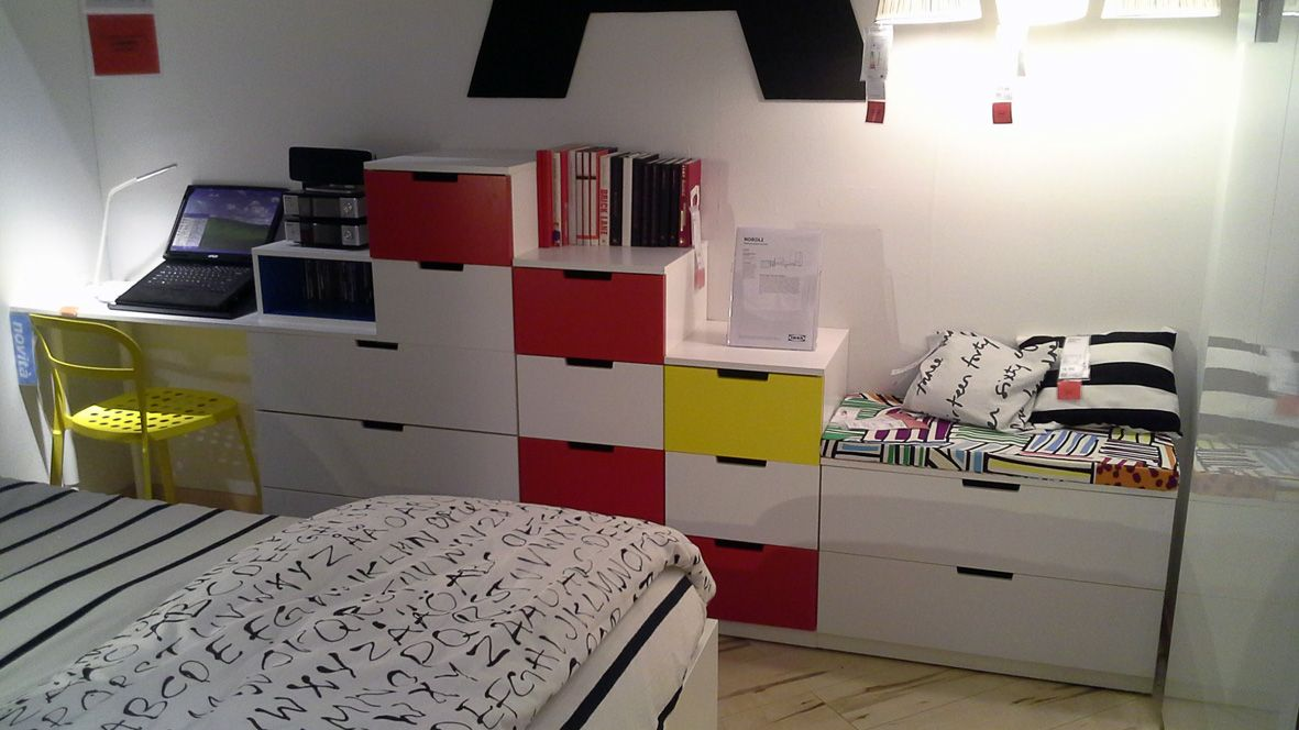 Ikea Cassettiere Nordli.Combinazione Di Cassettiere Modulari Ikea Nordli Impilabili