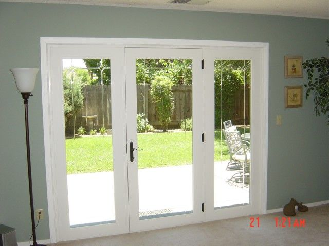 Triple full view french doors patio door inspiration for Double opening patio doors