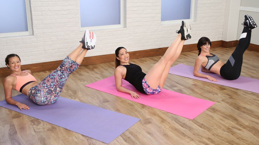 7 Minutes to Crop-Top Abs: We love Pilates. We love HIIT (that's high-intensity interval training). #pilatesworkoutvideos