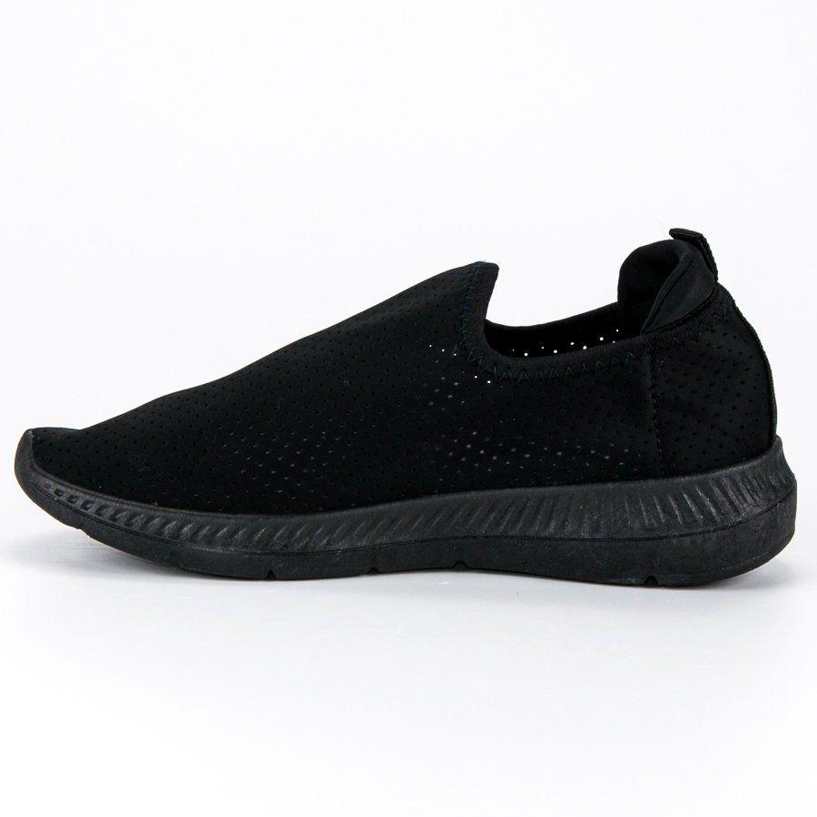 Azurowe Wsuwane Buty Sportowe Czarne All Black Sneakers Slip On Sneaker Black Sneaker