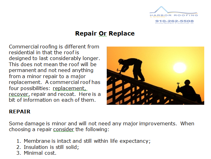 No Matter Your Roof Situation Let Us At Harbor Roofing Check Your Roof For Damage We Have The Training Insurance An Siding Repair Commercial Roofing Repair