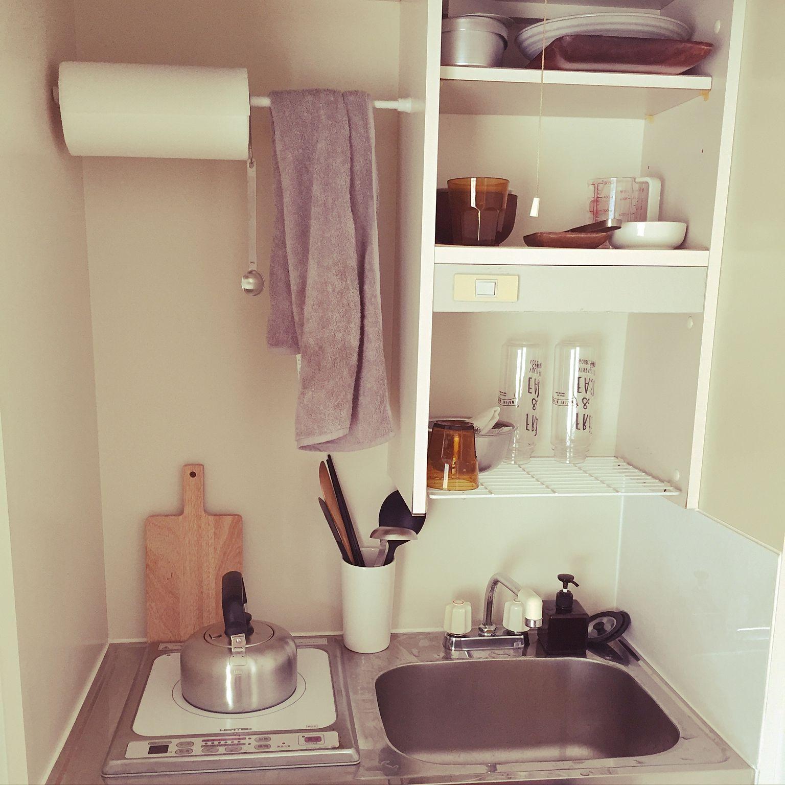 Galley Kitchen Ideas 2016: キッチン/100均/一人暮らし/無印良品/ワンルームのインテリア実例