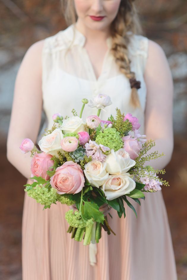 ranunculus and roses bouquet // photo by Christie Graham Photography