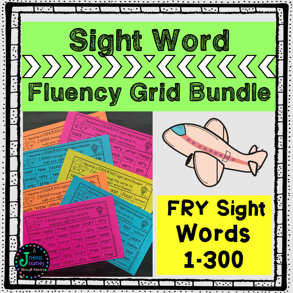 FRY Sight Word Fluency Grids & Tracking Sheets Bundle