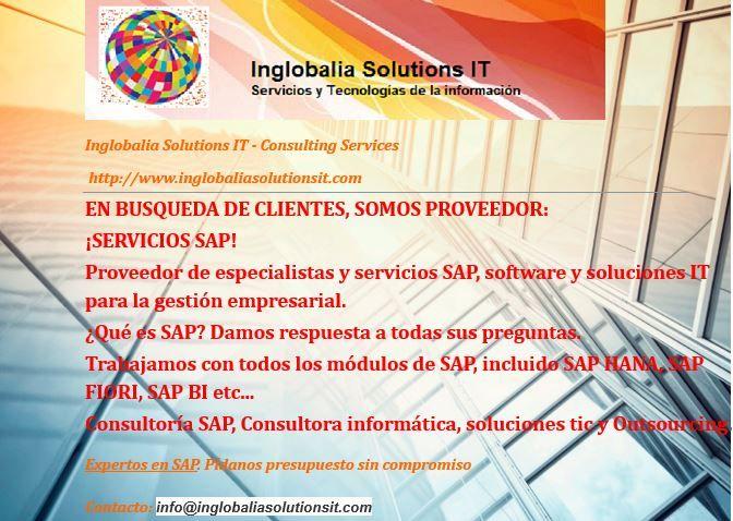 En Busqueda De Clientes Somos Proveedor Servicios Sap