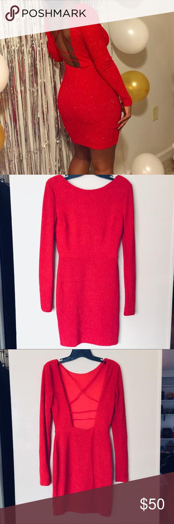 Openback red glitter dress my posh picks pinterest red