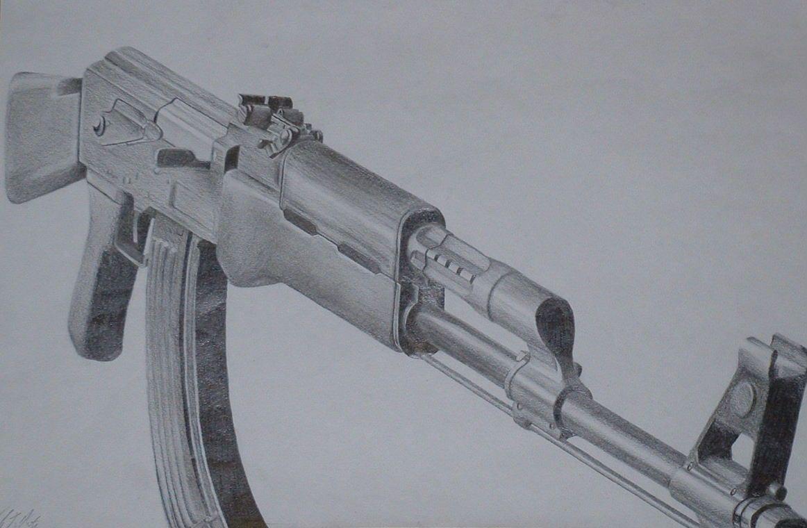 Ak47 Drawing By Johnfensworthdeviantartcom On At Deviantart Intro