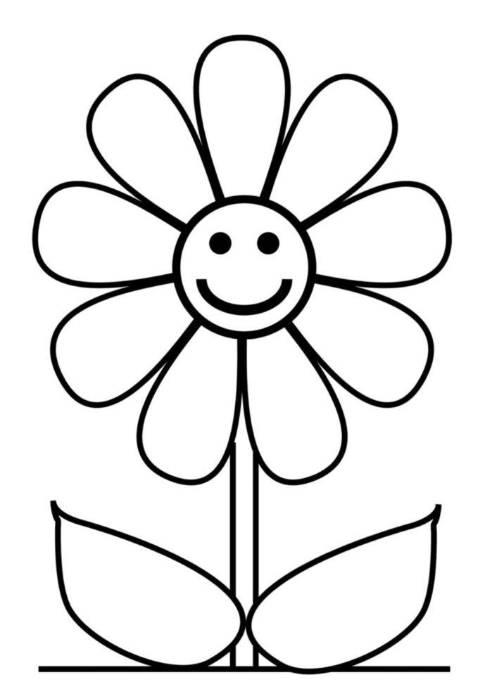 Risultati immagini per fiore disegno | coloring page | Pinterest ...
