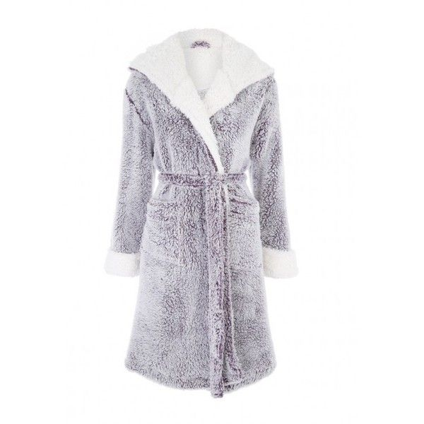 Womens Purple Fluffy Dressing Gown ($21) ❤ liked on Polyvore ...