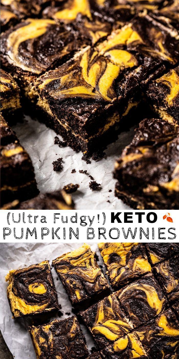 (Ultra Fudgy!) Gluten Free & Keto Pumpkin Brownies