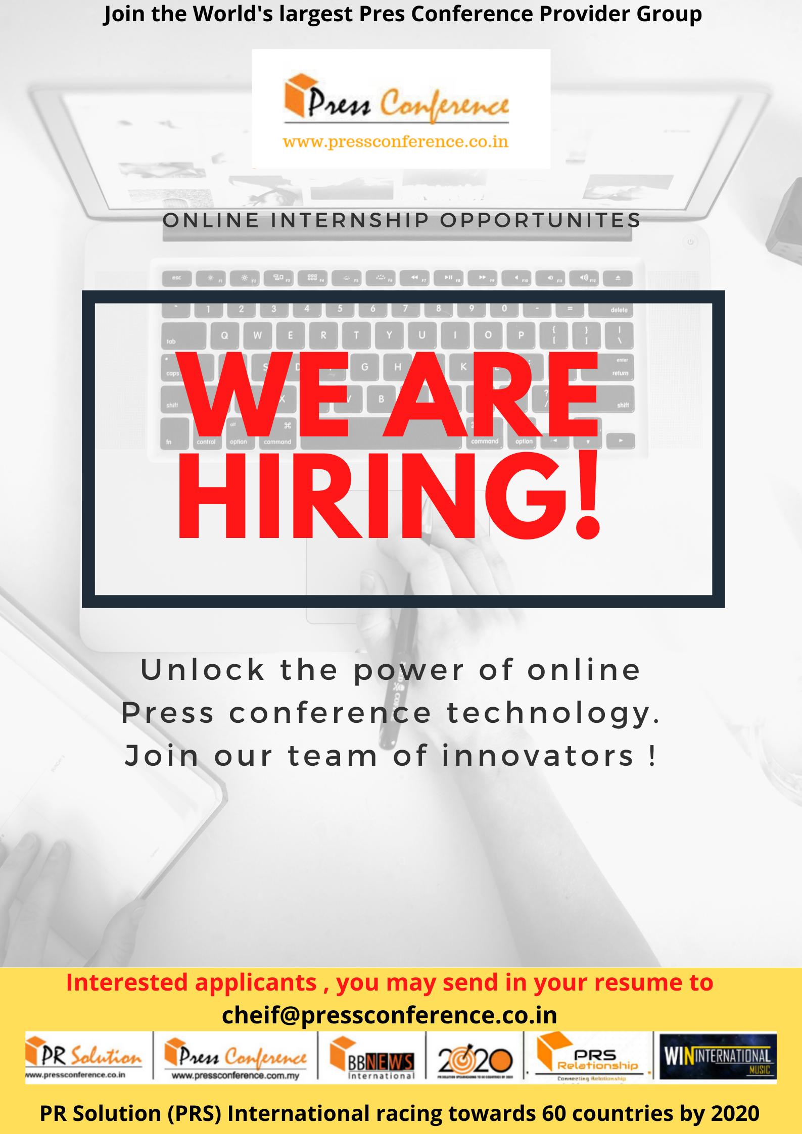 Online Internship Opportunities Apply Now Internship Program Internship How To Apply