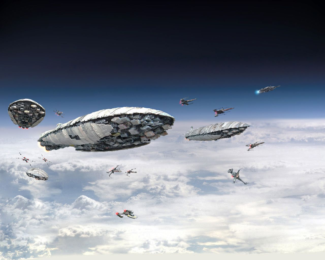 Rebel Transports, X-Wings, Y-Wings and B-Wings - Leaving Hoth Once Again-1 by 1darthvader.deviantart.com on @deviantART