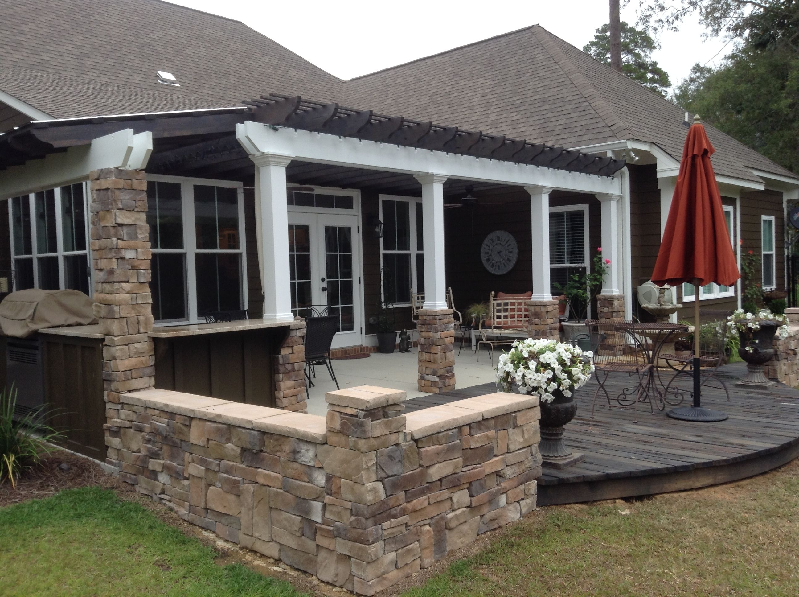 Patio, pergola and outdoor grilling station - Albany ... on Patio Grill Station  id=66698