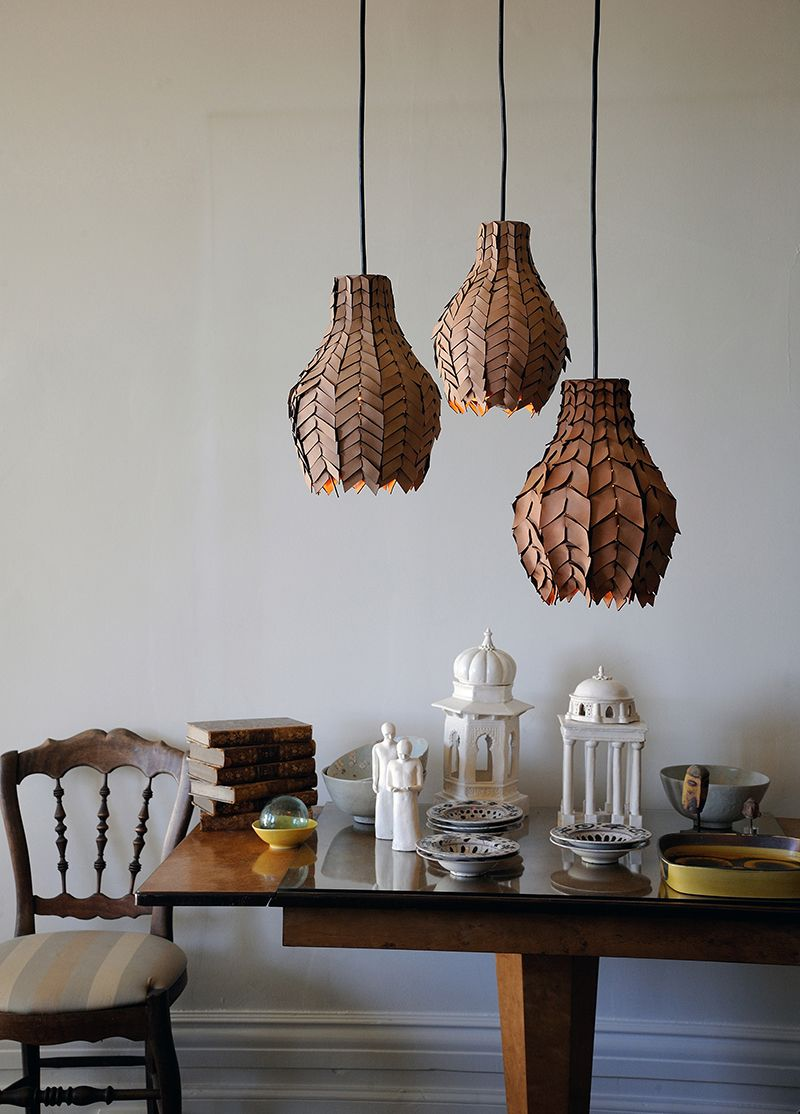 The Pod Luxe Pendant Light By Loz Abberton Is Handmade With Great Care And Talent Combining Ancient Craft Australian Leather Result Being A