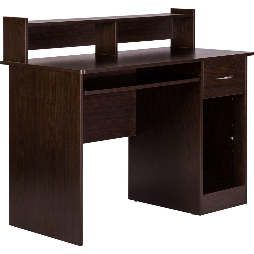 Onespace Computer Desk Espresso 50 Ld01es Best Buy In 2021 Home Office Computer Desk Contemporary Home Office Office Computer Desk