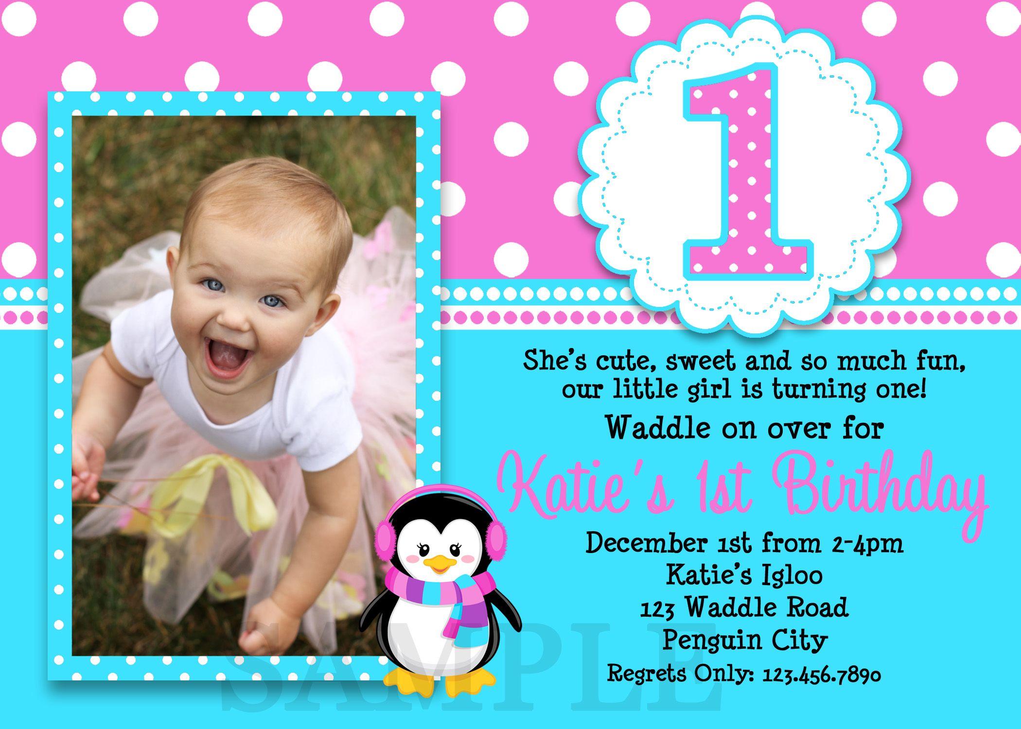 1st birthday invitations Birthdays Party invitations and Free