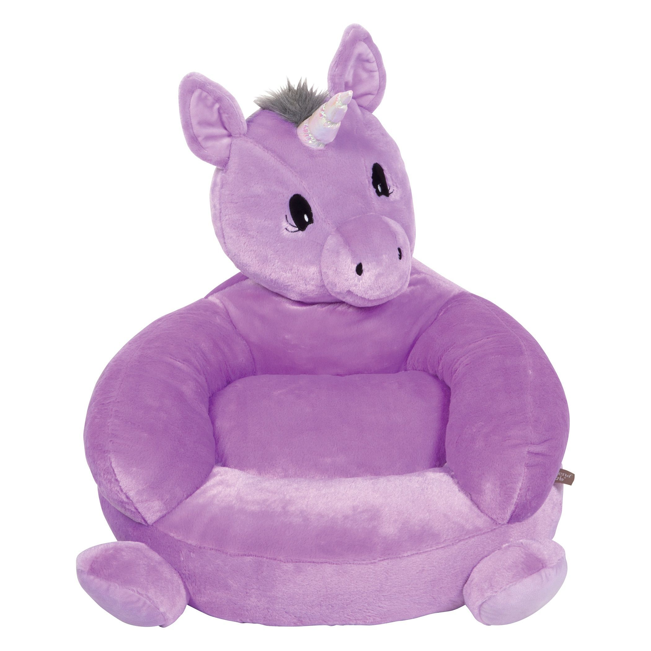 Trend lab childrenus purple microplush unicorn character chair by