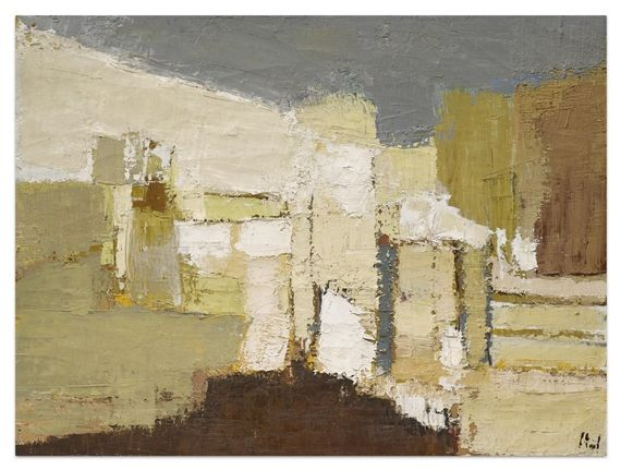 Artwork by Nicolas de Staël, Paysage a Agrigente, Made of Oil on canvas