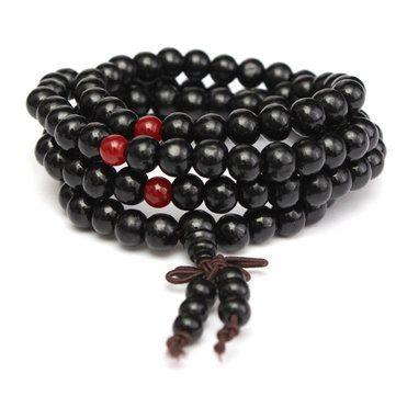 c75a6c479f8e3 108Pcs 8mm Multilayer Sandalwood Buddha Prayer Beads Bracelet Neck Lacee