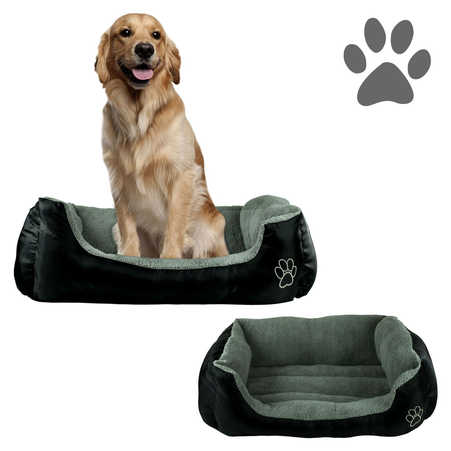 Pamper Your Pup With This Plush Cuddler Pet Bed From Beatrice In Black The Outer Dimensions Of This Bed Are 24 X 34 Inc Dog Pet Beds Dog Bed Furniture Pet Bed