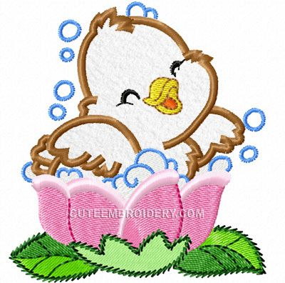 This Free Embroidery Design Is A Cute Baby Duck Enjoy Free