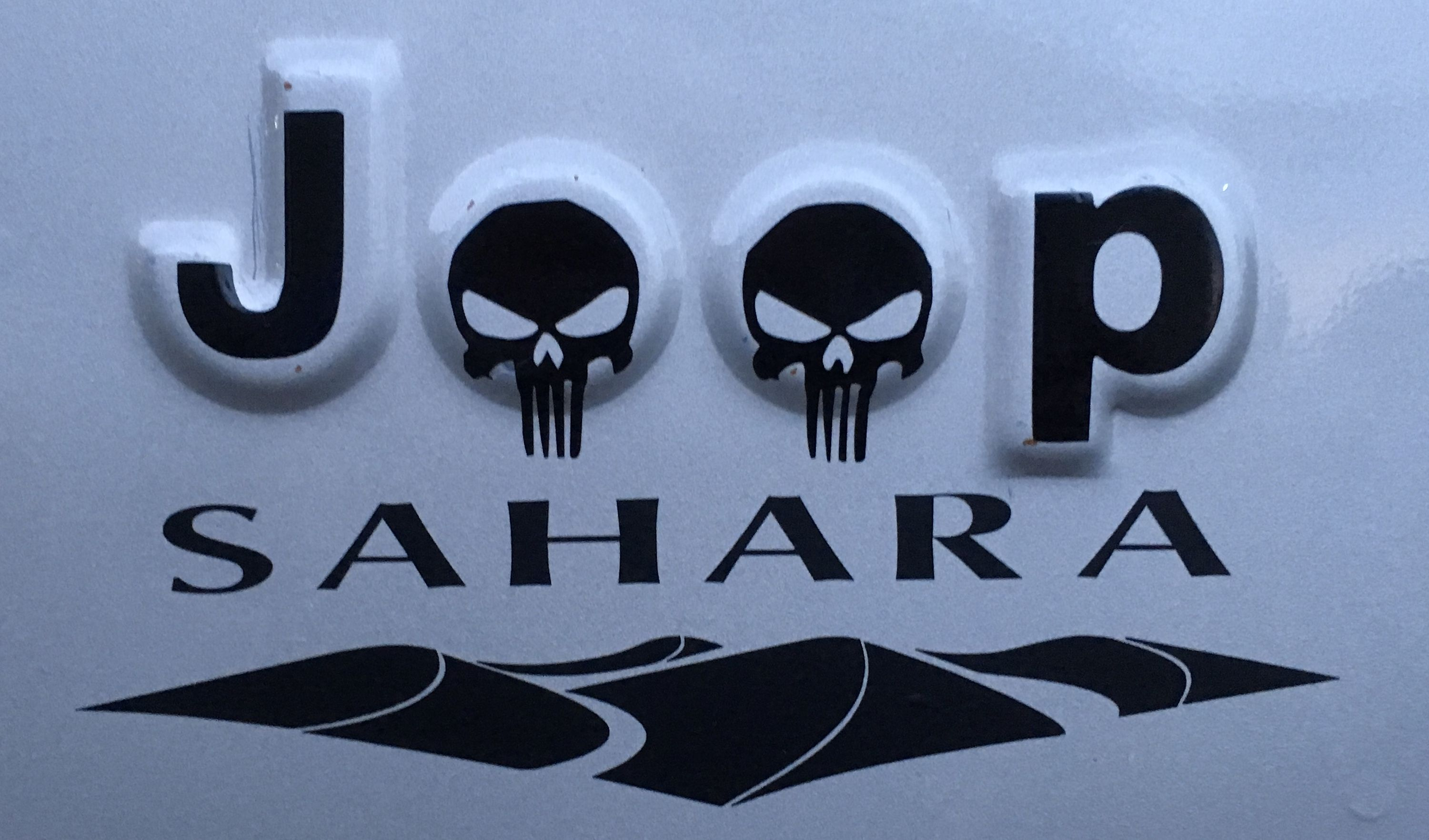 Punisher Skulls Jeep Lettering And Late Model Sahara Symbol Jeep Wrangler Sahara Wrangler Sahara Sahara