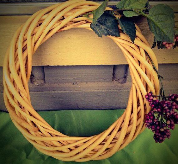Handmade grape floral arrangement in wicker by KsHandmadeFlorals $24.49 More at -> https://www.etsy.com/listing/181412722/handmade-grape-floral-arrangement-in?ref=shop_home_active_23