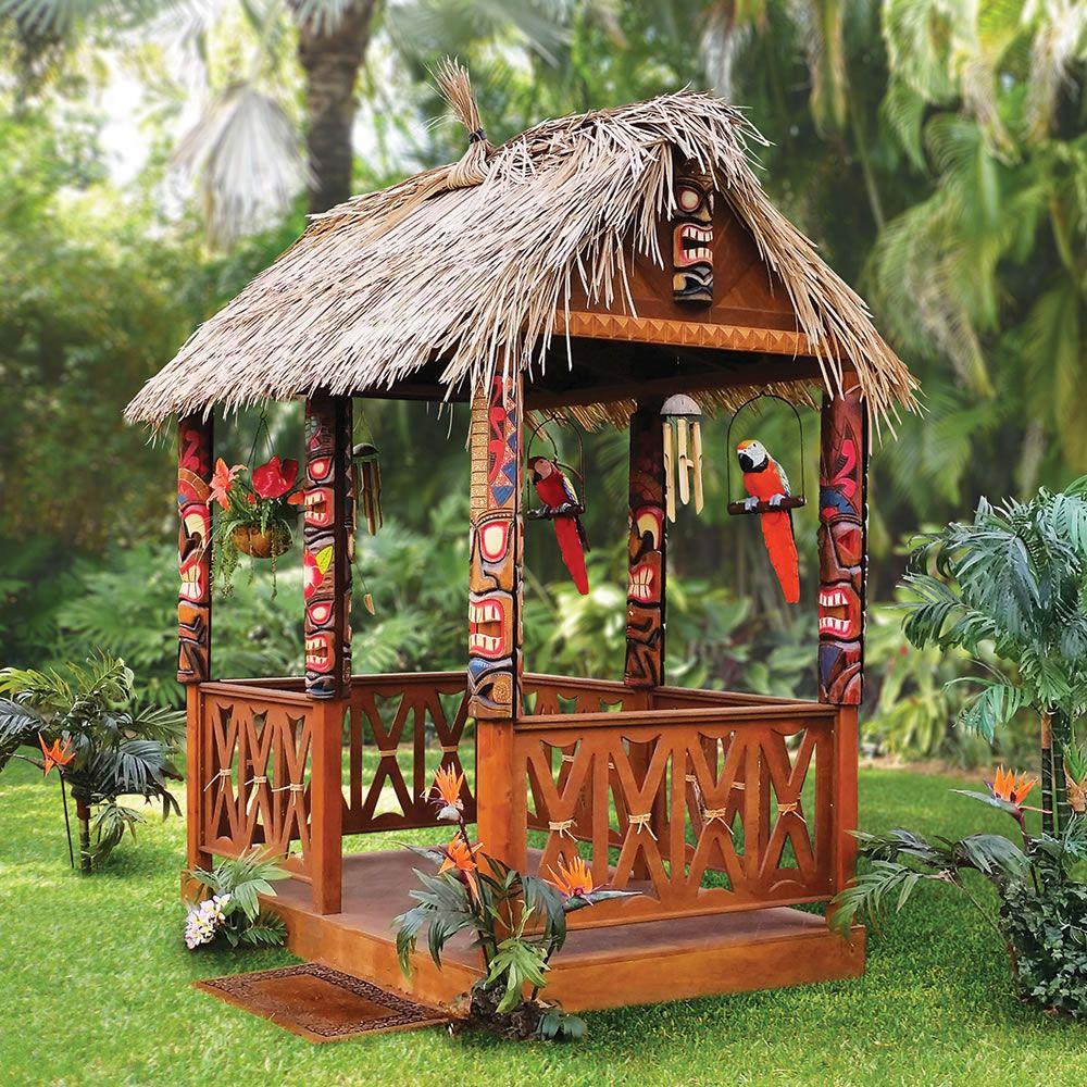 The Tropical Tiki Hut - Hammacher Schlemmer | Tiki hut ...