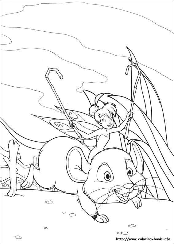 tinkerbell coloring picture - Tinkerbell Coloring Book