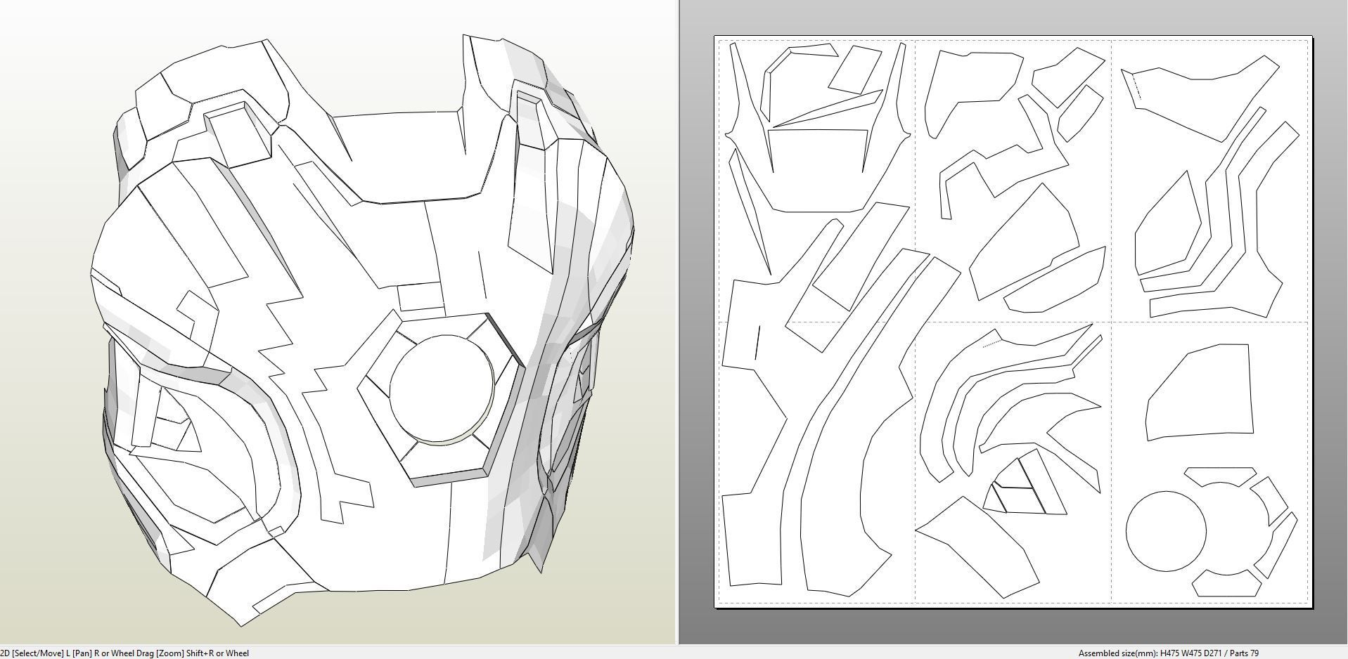 Papercraft Pdo File Template For Iron Man Mark 45 Full Armor