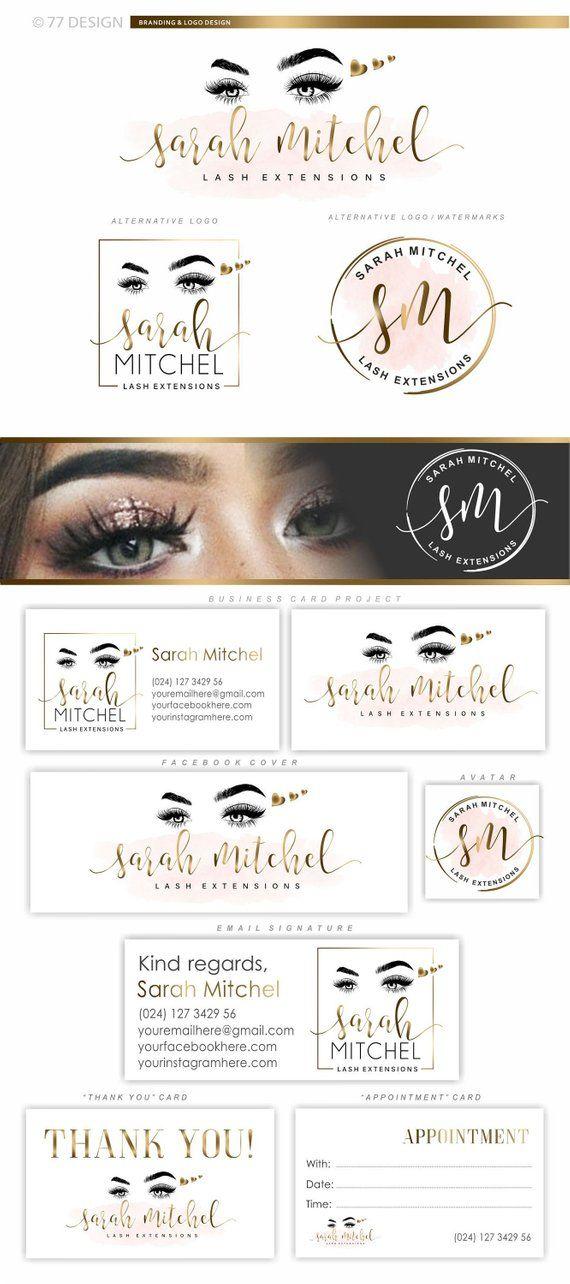 Lashes logo, Heart lash beauty logo, Makeup logo Lash Brow artist